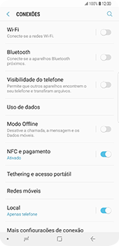 Samsung Galaxy S9 Plus - Internet no telemóvel - Como ativar os dados móveis -  5