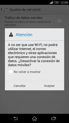 Sony Xperia Z3 - Internet - Activar o desactivar la conexión de datos - Paso 7