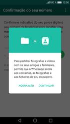 Huawei P9 Lite - Aplicações - Como configurar o WhatsApp -  6
