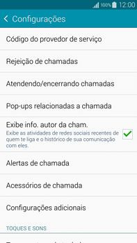 Samsung N910F Galaxy Note 4 - Chamadas - Como bloquear chamadas de um número específico - Etapa 8