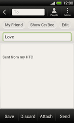 HTC T320e One V - E-mail - Sending emails - Step 8
