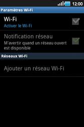 Samsung S5660 Galaxy Gio - Wifi - configuration manuelle - Étape 5