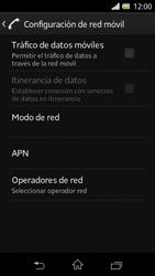 Sony Xperia L - Internet - Activar o desactivar la conexión de datos - Paso 7