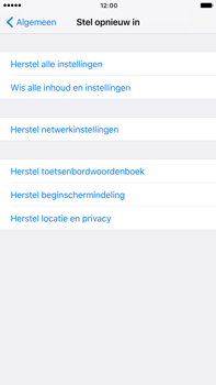 Apple iPhone 6s Plus iOS 10 - Toestel reset - terugzetten naar fabrieksinstellingen - Stap 5