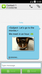 Huawei Y625 - MMS - Sending pictures - Step 15