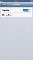 Apple iPhone 5 - Basisfunktionen - SIM-PIN aktivieren und ändern - Schritt 8