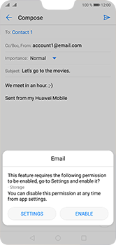 Huawei P20 Lite - Email - Sending an email message - Step 11