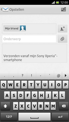 Sony LT28h Xperia ion - E-mail - E-mails verzenden - Stap 8