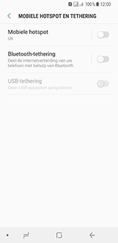 Samsung Galaxy A8 (2018) (SM-A530F) - WiFi - Mobiele hotspot instellen - Stap 6