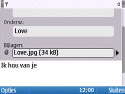 Nokia E5-00 - E-mail - hoe te versturen - Stap 13