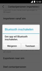 Huawei Ascend Y330 - Contactgegevens overzetten - delen via Bluetooth - Stap 9