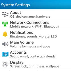 BlackBerry Q5 - WiFi and Bluetooth - Manual configuration - Step 4