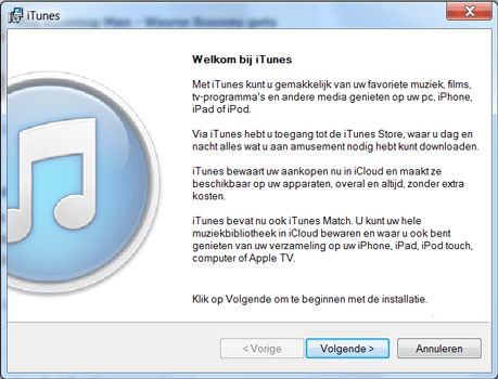 Apple iPhone 5 - Software - Download en installeer PC synchronisatie software - Stap 2