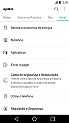 LG X Power - Funções básicas - Como restaurar as configurações originais do seu aparelho - Etapa 4