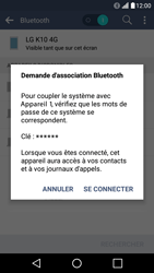 LG LG K10 4G (K420) - Bluetooth - connexion Bluetooth - Étape 10