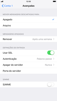 Apple iPhone 8 Plus - iOS 12 - Email - Configurar a conta de Email -  23