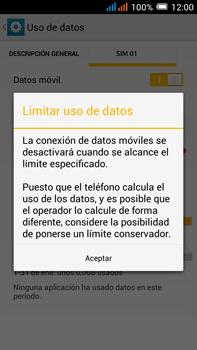 Alcatel Pop C9 - Internet - Ver uso de datos - Paso 10