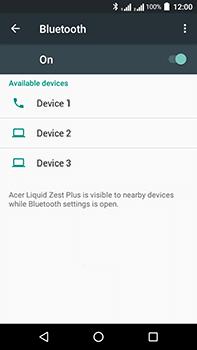 Acer Liquid Zest 4G Plus - WiFi and Bluetooth - Setup Bluetooth Pairing - Step 6