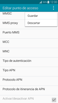 Samsung N910F Galaxy Note 4 - Internet - Configurar Internet - Paso 15