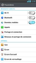 LG Optimus F6 - Internet et connexion - Accéder au réseau Wi-Fi - Étape 4