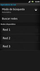Sony Xperia U - Red - Seleccionar una red - Paso 9