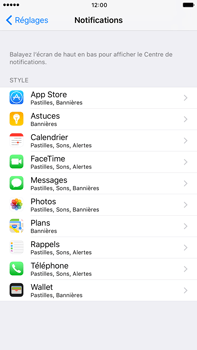 Apple Apple iPhone 6 Plus iOS 10 - iOS features - Personnaliser les notifications - Étape 4
