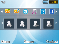 Samsung S3350 Chat 335 - E-mail - Handmatig instellen - Stap 1