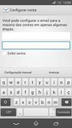 Sony Xperia E4G - Email - Como configurar seu celular para receber e enviar e-mails - Etapa 5