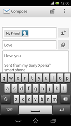 Sony C1905 Xperia M - E-mail - Sending emails - Step 10