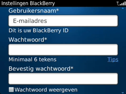 BlackBerry 9360 Curve - BlackBerry activeren - BlackBerry ID activeren - Stap 9