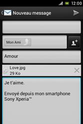 Sony ST23i Xperia Miro - E-mail - envoyer un e-mail - Étape 11