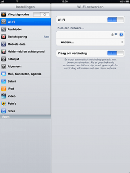 Apple iPad - WiFi - Handmatig instellen - Stap 5