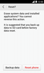 Huawei Ascend Y330 - Device maintenance - How to do a factory reset - Step 8