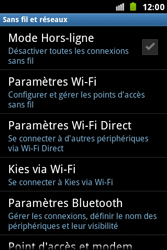 Samsung S7500 Galaxy Ace Plus - Wifi - configuration manuelle - Étape 4