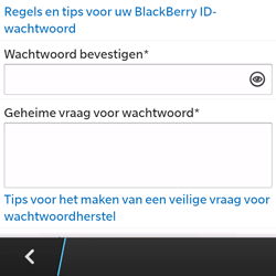 BlackBerry Q5 - Applicaties - Account aanmaken - Stap 10