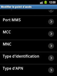 Samsung S5360 Galaxy Y - Internet - configuration manuelle - Étape 10