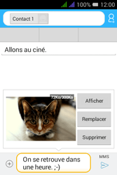 Alcatel Pixi 3 Dual Sim - Contact, Appels, SMS/MMS - Envoyer un MMS - Étape 19