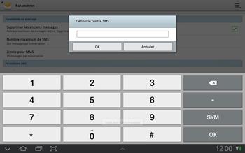 Samsung P7500 Galaxy Tab 10-1 - SMS - configuration manuelle - Étape 6