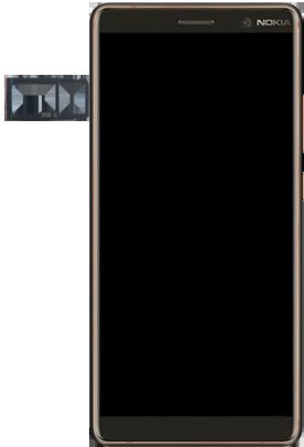 Nokia 7 Plus - Premiers pas - Insérer la carte SIM - Étape 3