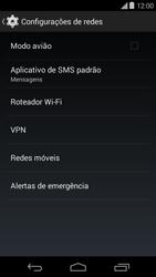 Motorola Moto E (1st Gen) (Kitkat) - Rede móvel - Como ativar e desativar o modo avião no seu aparelho - Etapa 5