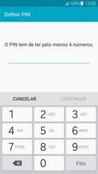 Samsung Galaxy J5 - Segurança - Como ativar o código de bloqueio do ecrã -  7