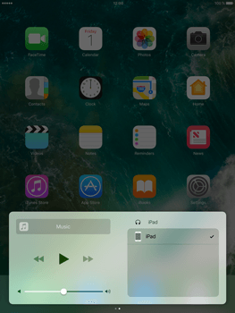 Apple iPad mini 4 iOS 10 - iOS features - Control Centre - Step 9