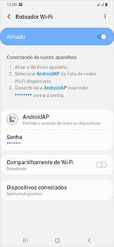 Samsung Galaxy A50 - Wi-Fi - Como usar seu aparelho como um roteador de rede wi-fi - Etapa 13