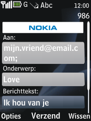 Nokia 2730 classic - E-mail - e-mail versturen - Stap 9