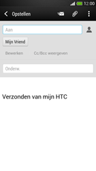 HTC One Mini - E-mail - Hoe te versturen - Stap 8