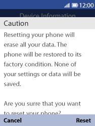 Nokia 8110 Banana - Device - Factory reset - Step 9