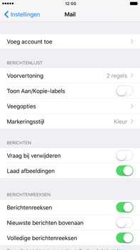 Apple iPhone 6 Plus iOS 10 - E-mail - Account instellen (POP3 zonder SMTP-verificatie) - Stap 4