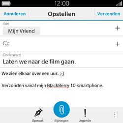 BlackBerry Classic - E-mail - Hoe te versturen - Stap 12