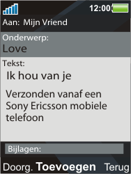Sony Ericsson C903 - E-mail - Hoe te versturen - Stap 11