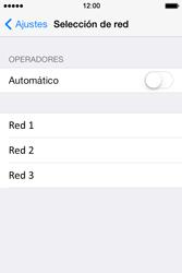 Apple iPhone 4S iOS 7 - Red - Seleccionar una red - Paso 6